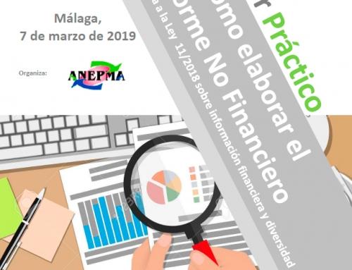 ANEPMA organizará un Taller sobre la Ley 11/2018, de 28 de diciembre, sobre información no financiera y diversidad
